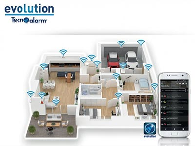 evolution sistema antifurto wireless